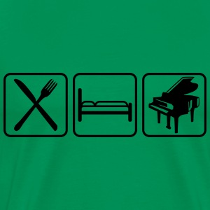 Eat Sleep Piano Logo Design T-skjorter - Premium T-skjorte for menn