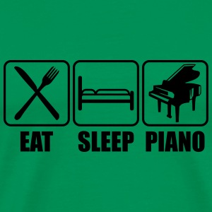 Eat Sleep Piano Logo T-skjorter - Premium T-skjorte for menn