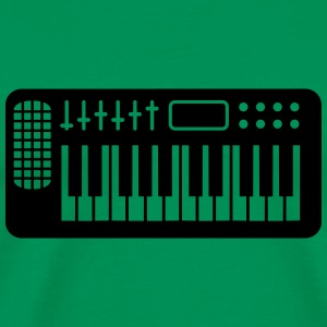 Keyboard Piano Design T-skjorter - Premium T-skjorte for menn