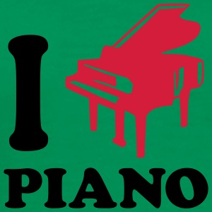 I Love Piano Logo Design T-skjorter - Premium T-skjorte for menn