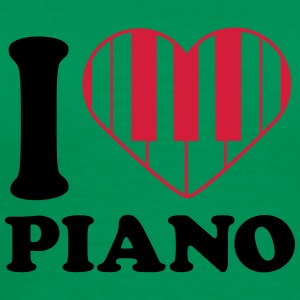 I Love Piano Design T-skjorter - Premium T-skjorte for menn
