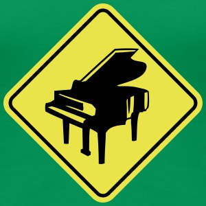 Warning Piano Sign Design T-Shirts - Frauen Premium T-Shirt