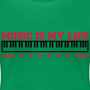 Music Is My Life T-Shirts - Frauen Premium T-Shirt