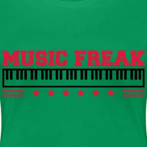 Music Freak Paino Design T-skjorter - Premium T-skjorte for kvinner
