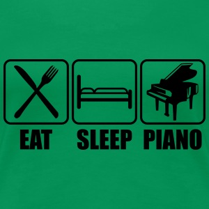 Eat Sleep Piano Logo T-skjorter - Premium T-skjorte for kvinner
