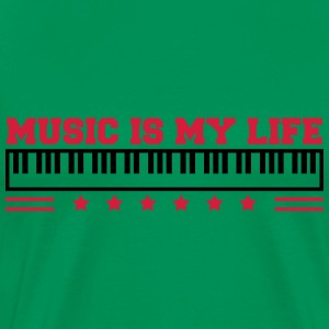 Music Is My Life T-shirts - Premium-T-shirt herr
