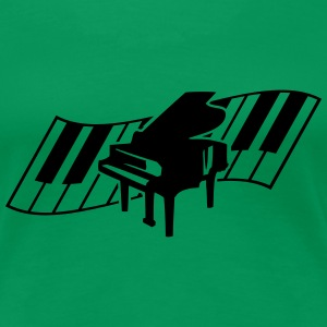 Piano Keys Music Design T-Shirts - Frauen Premium T-Shirt