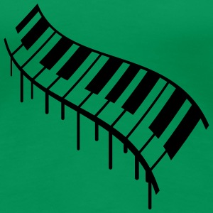 Piano Keys Graffiti Design T-skjorter - Premium T-skjorte for kvinner