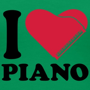 I Love Piano Heart Design T-skjorter - Premium T-skjorte for kvinner