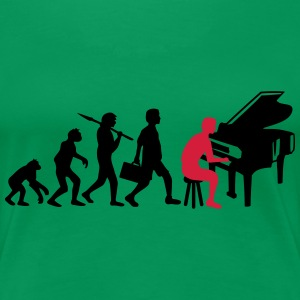 Piano Music Evolution T-shirts - Premium-T-shirt dam