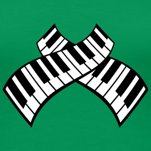 Piano Keys Pattern Design T-skjorter - Premium T-skjorte for kvinner