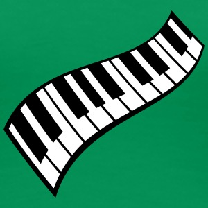 Piano Keys Pattern T-skjorter - Premium T-skjorte for kvinner