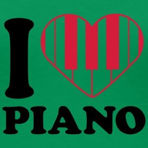 I Love Piano Design T-skjorter - Premium T-skjorte for kvinner