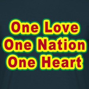 one love one nation one heart T-Shirts - Men's T-Shirt