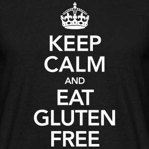Keep Calm And Eat Gluten Free T-skjorter - T-skjorte for menn
