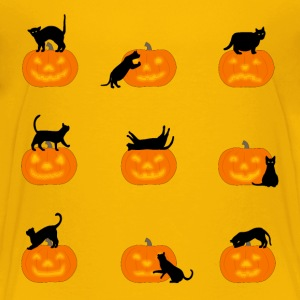 cats and pumpkins Shirts - Teenage Premium T-Shirt