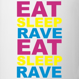 Eat Sleep Rave Botellas y tazas - Taza