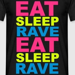 Eat Sleep Rave T-skjorter - T-skjorte for menn