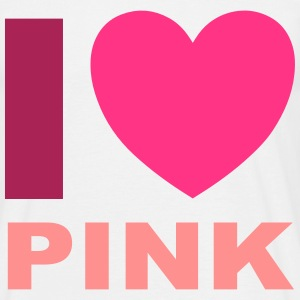 I Love Pink T-shirts - Herre-T-shirt