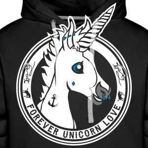 Black Colt - Unicorn Love (onblack) Hoodies & Sweatshirts - Men's Premium Hoodie