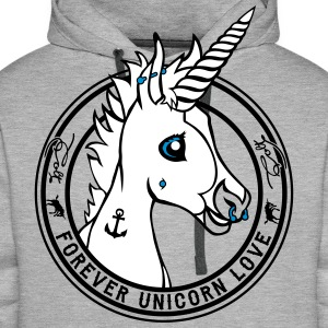 Heather grey Colt - Unicorn Love (onwhite) Hoodies & Sweatshirts - Men's Premium Hoodie