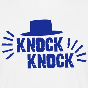 Knock Knock with hat T-shirts - Mannen T-shirt