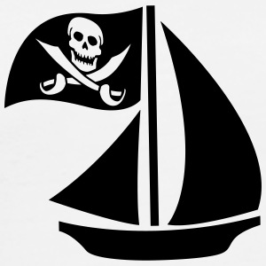 Pirate Boat Tee shirts - T-shirt Premium Homme