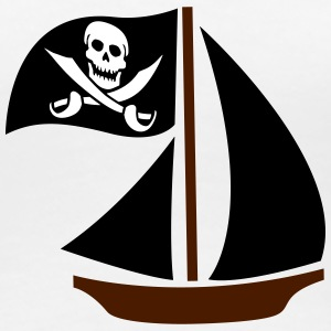 Pirate Boat T-Shirts - Frauen Premium T-Shirt