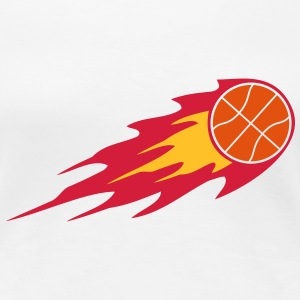 Basketball Fire Ball Logo T-Shirts - Women's Premium T-Shirt