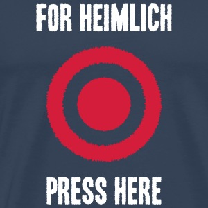 For Heimlich Press Here - Men's Premium T-Shirt