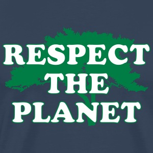 Respect the Planet Koszulki - Koszulka męska Premium