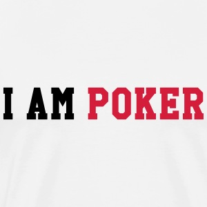 I am Poker T-shirts - Herre premium T-shirt