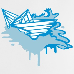 A paper boat on the ocean Shirts - Baby T-Shirt