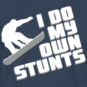 Snowboard: I do my own stunts T-shirts - Mannen Premium T-shirt