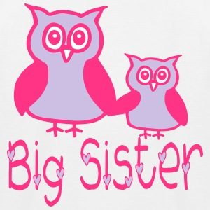 Eule_Big sister Shirts - Kids' Baseball T-Shirt