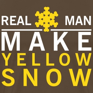 Real man make yellow snow T-shirts - Mannen Premium T-shirt