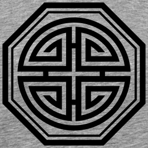 Four blessings, Chinese Good Luck Symbol, Amulet T-shirts - Herre premium T-shirt