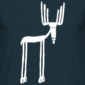 Navy moose T-Shirts - Men's T-Shirt