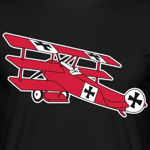 Fokker Airplane Flugzeug Roter Baron Red World War T-shirts - Mannen T-shirt