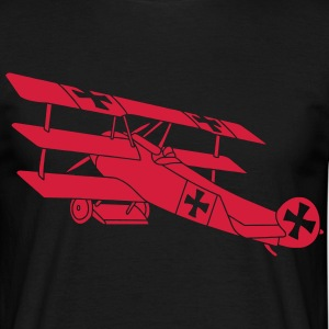 Fokker Airplane Flugzeug Roter Baron Red World War T-shirts - Herre-T-shirt