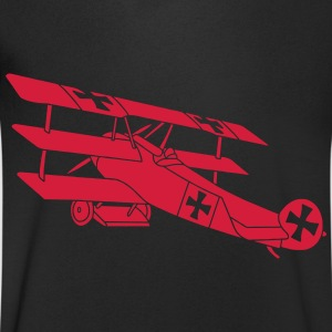 Fokker Airplane Flugzeug Roter Baron Red World War T-shirts - Mannen T-shirt met V-hals