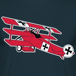 Fokker Airplane Flugzeug Roter Baron Red World War T-shirts - T-shirt herr