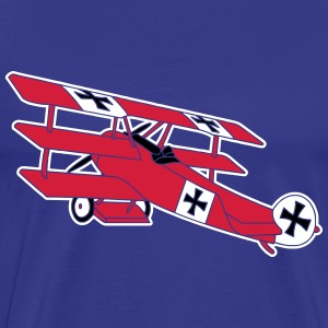 Fokker Airplane Flugzeug Roter Baron Red World War T-Shirts - Men's Premium T-Shirt