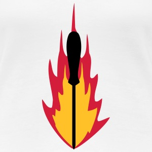 Screwdriver On Fire Craftsman Logo T-Shirts - Women's Premium T-Shirt