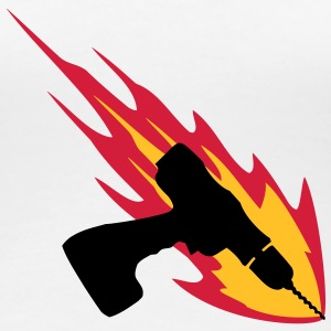 Cordless Drill On Fire T-shirts - Dame premium T-shirt