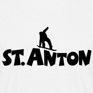 St. Anton Snowboard T-Shirt (Men/White) - Men's T-Shirt