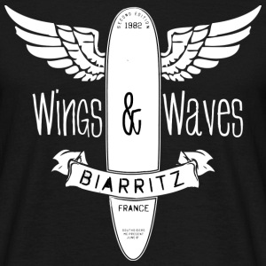 Surf. Waves. wings. Biarritz. France - Camiseta hombre