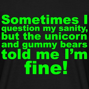 Question My Sanity T-shirts - T-shirt herr
