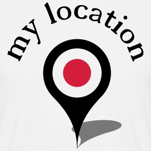 my location navi T-shirts - Mannen T-shirt