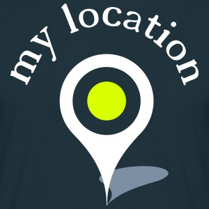 my location navi T-shirts - T-shirt herr